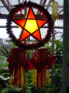 the bamboo parol pah role or star lantern is the symbol of christmas in the philippines representing the guiding light the star of bethlehem