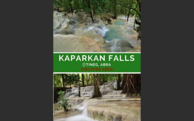 Kaparkan Falls in Tineg Abra, Philippines