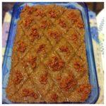 Biko with Latik (Filipino Rice Cake with Coconut Syrup)