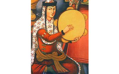 Daf, tra gli strumenti tradizionali della musica iraniana.