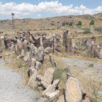 Un cimitero che testimonia una civiltà ormai estinta, di 1000 anni a.C.