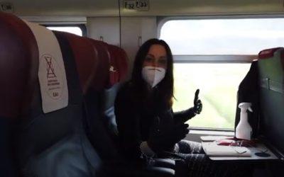 ROMA-MILANO CON MATILDE Fase 3, viaggiare in treno sicuri